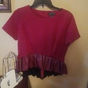 Gracia peplum shirt